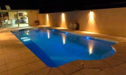 DIY POOLS MELBOURNE - FIBREGLASS POOLS - PHOTO - NIGHT - THE CONQUEST