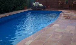 DIY POOLS MELBOURNE - FIBREGLASS POOLS - PHOTO - THE MACQUARIE - CRYSTAL GRANITE - NIGHT BLUE - 10.5m