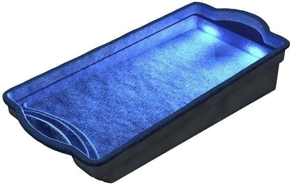 DIY POOLS - THE CONQUEST - Night Lights Water View - Back -Culture Coral Blue